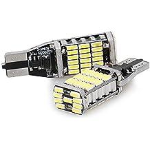 CICMOD 2 x 1000 Lumen Canbus Error Free 921 912 T10 T15 W16W, 45*4014 SMD, Bombillas LED para la Luz de Coche, Blanco 6500K