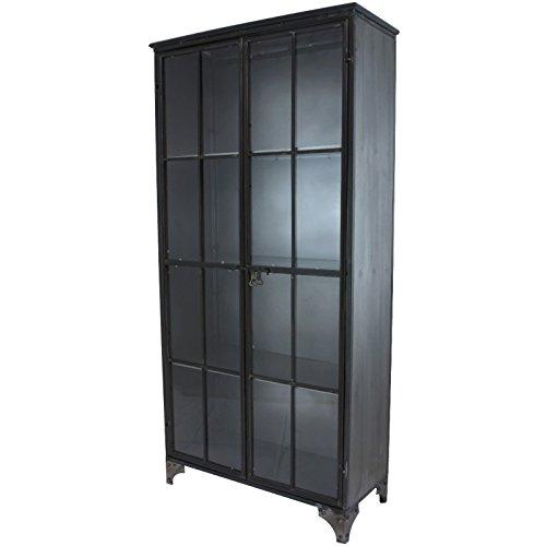 Mobile credenza madia Buffet Armadio vitrée in ferro stile industriale 171cm