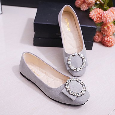 Wuyulunbi @ Femmes Chaussures Pu Printemps Automne Confort Appartements Talon Plat Pétillant Toe Glitter Pour Amande Casual Rougir Rose Gris Noir Us7.5 / Eu38 / Uk5.5 / Cn38