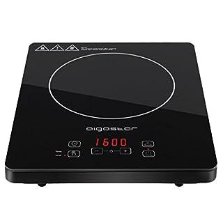 Aigostar Blackfire 30IAV- Multifunktions-Induktionskochfeld 2000Watt mit Digitalanzeige, Sensor Touch Button Steuerung, Timer, 10 Leistungsstufen, Schwarz, EINWEGVERPACKUNG.