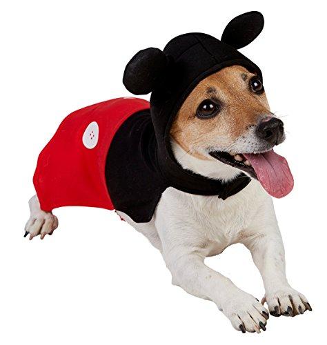 Rubie's 3580206 - Mickey Mouse Hundekostüm, schwarz/rot (Disney Kostüme Für Hunde)