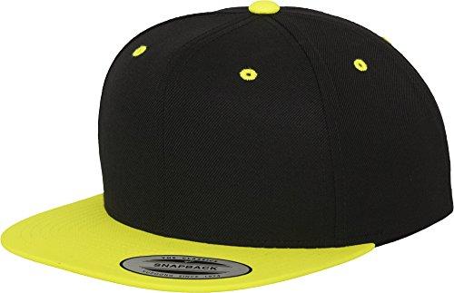 Flexfit Yupoong Unisex Kappe Classic Snapback 2-Tone Cap, Zweifarbige Blanko Cap mit Geradem Schirm, One Size Einheitsgröße für Männer und Frauen