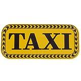 sourcingmap® Negro TAXI letras Imprimir amarillo pegatina reflectante para el coche