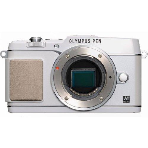 Olympus E-P5 Systemkamera (16 Megapixel MOS-Sensor, True Pic VI Prozessor, 5-Achsen Bildstabilisator, Verschlusszeit 1/8000s, Full-HD) Gehäuse weiß