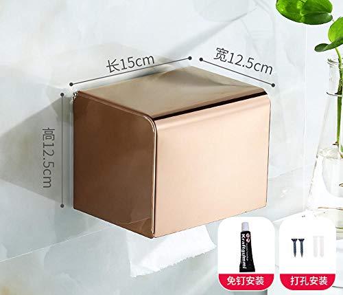 BRIDGEYT ToilettenpapierhalterungRollenhalter aus Edelstahl für Badezimmer - Lagerung Champagner-gläser