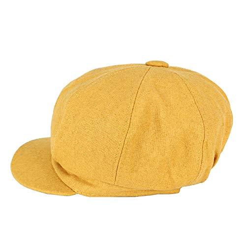 QX-DIMDIM Boina otoño Invierno Retro Sombrero Octagonal