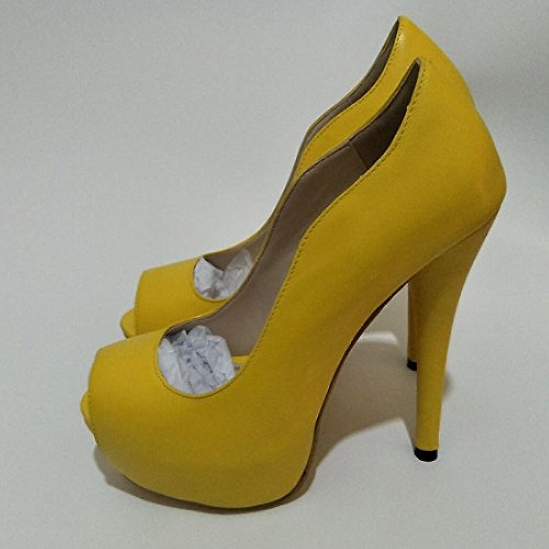 VIVIOO Prom Sandals scarpe,Beautiful Fashion,giallo Leather,14-16 Cm High-Heeled scarpe,Peep scarpe,Peep scarpe,Peep Toe Pumps.Dimensione 34-45... | promozione  | Sig/Sig Ra Scarpa  62a236