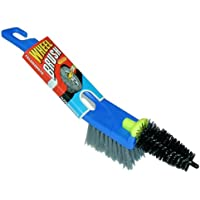 Veropa Alloy Brush Twin 2-in 1 with Surface Brush And Conical Detail Brush For Throughly Clean Rims preiswert
