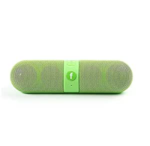 Mobile Link Capsule Bluetooth/Aux Cable Connectivity Multimedia Speaker Wireless Speaker (Green) System With SD Card/Pen Drive (Capsule) Compatible for karboon Quattro L50 HD