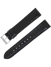 Breitling 18–18mm cuir véritable bande de montre Mesdames noir W Boucle.