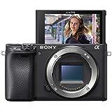 Sony Alpha 6400 E-Mount Systemkamera (24 Megapixel, 4K Video, 180° Klapp-Display, 0.02 Sek. Echtzeit-Autofokus mit 425 Kontrast AF-Punkten, XGA OLED Sucher, nur Gehäuse) schwarz
