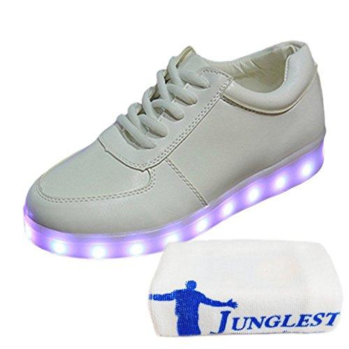 [Present:kleines Handtuch]Schwarz EU 45, Sneaker Sport Leuchtend Farbe Herren Unisex-Erwachsene weise Schuhe High-Top Turnschuhe für USB Aufladen J