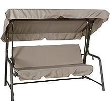 Ricambio completo cuscino + tetto per dondolo 2 posti (135 cm) di colore beige