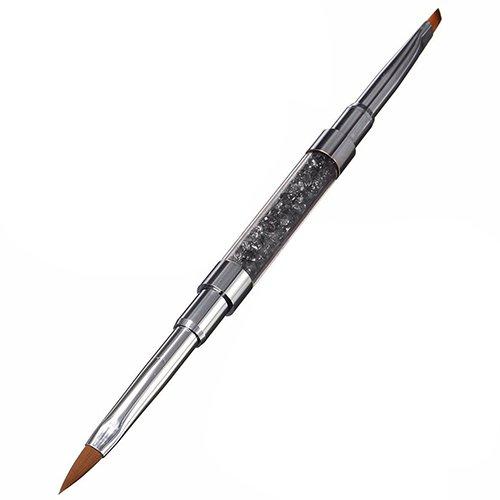 (homeofying 1pc Nail Art UV Gel Strass Griff Doppelkopf Acryl DIY Brush Pen)