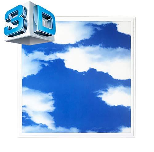 LED Panel 62x62 3D-SKY Einbauleucte Deckenleuchte Slim Panel 3D Effekt blauen Himmels mit weißen Wolken