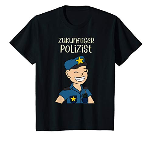 Kinder Zukünftiger Polizist T-Shirt Jungen Traum Beruf Polizei T-Shirt