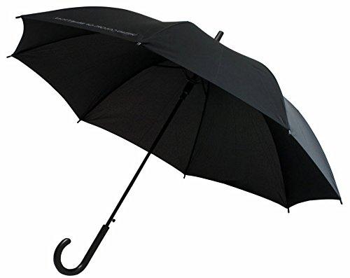 Stockschirm SCHWARZ BENETTON Regenschirm Automatik Regen Schirm Damen Herren 1548
