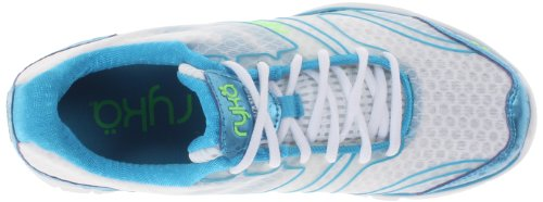 Ryka Women' s Dynamic sintetico scarpe da corsa White/Met/Ocean Blue/Electric Lime