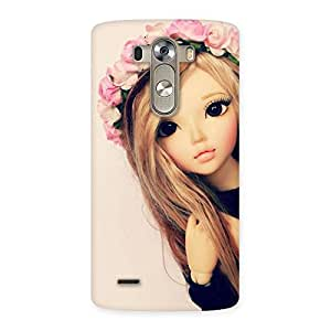 Delighted Pink Rose Doll Back Case Cover for LG G3