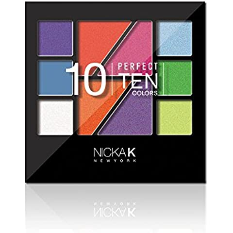 Nicka K NUEVA YORK AP020 Lidschatten Paleta Perfect Ten, Paquete 1er (1 x 1 Pieza)