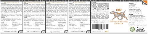 WW7 H7 | Naturprodukt Formel für Hunde | 900g Natürliches Premium Granulat