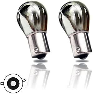 Bau15s02c Py21w Verchromte Birne Bau15s 12v 21w Versetzte Pins Blinkerlampe Auto