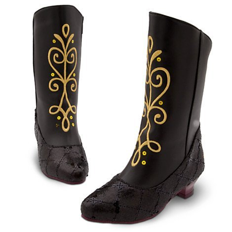 Frozen - Anna Boot , Girls' costume boots Kids shoe Size UK 7 / 8 - EU 24 - 26