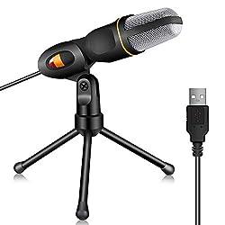 TONOR Kondensator-Mikrofon mit USB Schnittstelle Schall Podcast Studio Microphone für PC Laptop Computer - einfaches Plug and play
