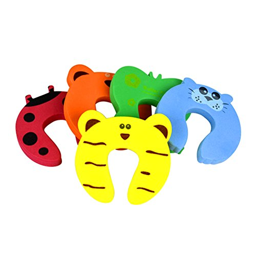 GSPStyle 5 Pcs Baby Kids Cute Home Safety Door Stoppers Security Helper Cushion