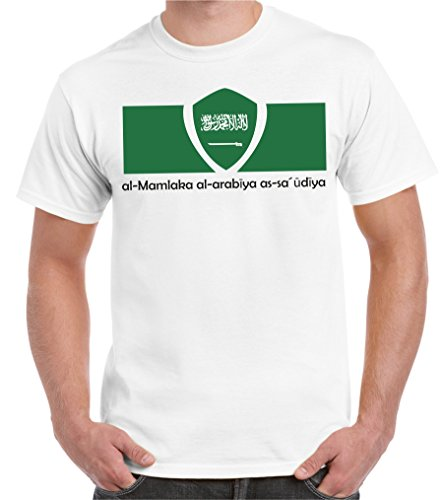 2Store24 Copa del Mundo 2018 Camiseta Hombre Bandera de Arabia Saudita Talla S - 5XL De Gran Tamaño