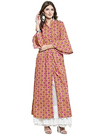 SERA Women's Cotton Anarkali Kurta