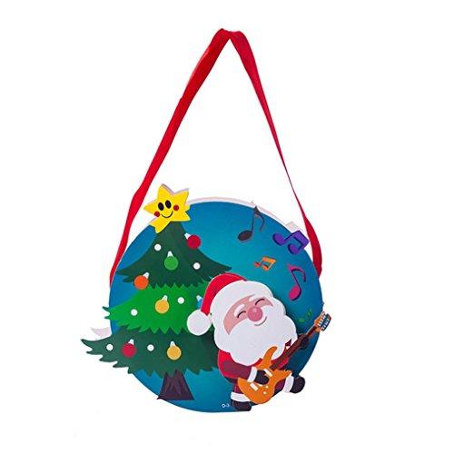 AMUSTER Weihnachtsbaum Ornament Fröhliche Weihnachten Süßigkeitstasche Snackpaket für Kinder Haushalt Garten Home Decor B