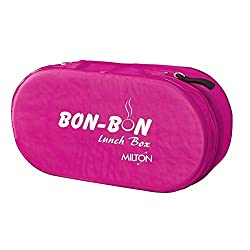 Milton Bon 2 Container Lunch Box, 560 ml, Pink (EC-SOF-FST-0007_PINK)