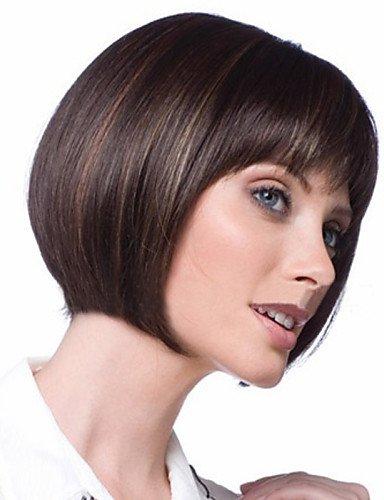 BBDM perruque synthétique de la mode ombre chaleur court bob perruques de cheveux résistants pour les femmes , multicolor