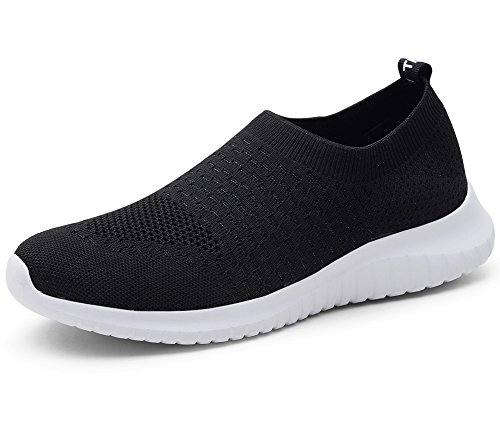 TIOSEBON HK6701, Damen Laufschuhe, Schwarz - Schwarz - Größe: 39 EU Label Size Asian 40