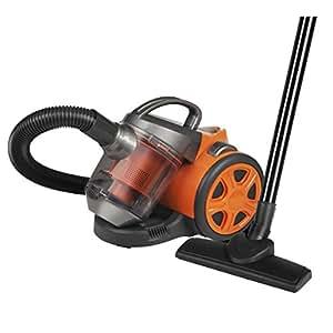 Pifco P28026S Bagless Cylinder Vacuum, Plastic Telescopic Tubes, 1400 W - Orange