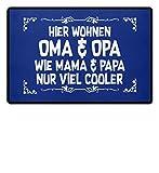 shirt-o-magic Großeltern: Oma & Opa sind cooler - Fußmatte