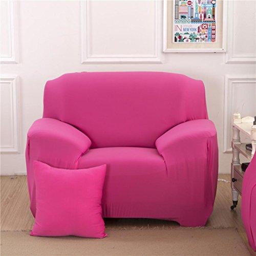 Hunpta Einzelner Sofa Couch Abdeckungs Abdeckungen Elastischer Gewebe Sofa Schutz Sitz (Hot Pink)