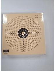Paquete de 100 dianas de Tiro Olímpico de la modalidad de Pistola Aire Juvenil 10 metros , tamaño 14 * 14 Cm., Fabricadas en cartulina de alta calidad Papel Col de 200 grs. , color teja, antirreflejos.