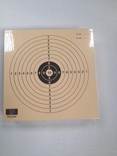 Confezione da 100 bersagli Tiro a Segno - Gioventú di pistola aria compressa - 14 *14 Cm. Prodotto di prima qualità Carta Col 200 grs.