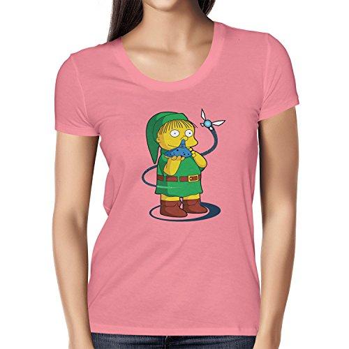 NERDO Damen Nose Flute T-Shirt, Pink, XL -