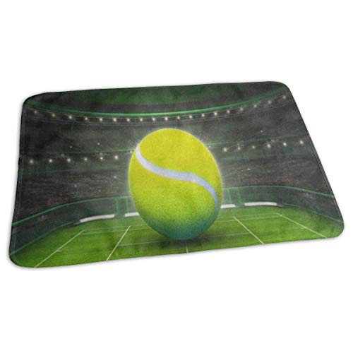Voxpkrs Changing Pad Tennis Ball On Grass Court Sport Baby Diaper Urine Pad Mat Designer Girls Urinal Mats Sheet for Any Places for Home Travel Bed Play Stroller Crib Car -
