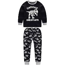 """Babygp dos conjuntos de pijama de """"dinosaurios"""" para los niños de algodón 100% (2-9 años)"""
