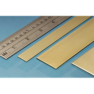 Albion Alloys 6mm x 0.4mm x 305mm Brass Strip (Pack of 5)