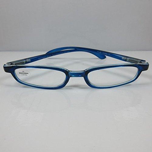 SCHILDGEN Schmale Lesebrille blau Federbügel Lesehilfe für SIE & IHN Fertigbrille +2,5