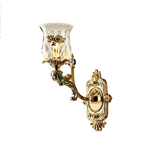 Applique en cristal de luxe français Salon Lampe de mur de fond de télévision Créative lampe de luxe en alliage/lampe murale simple