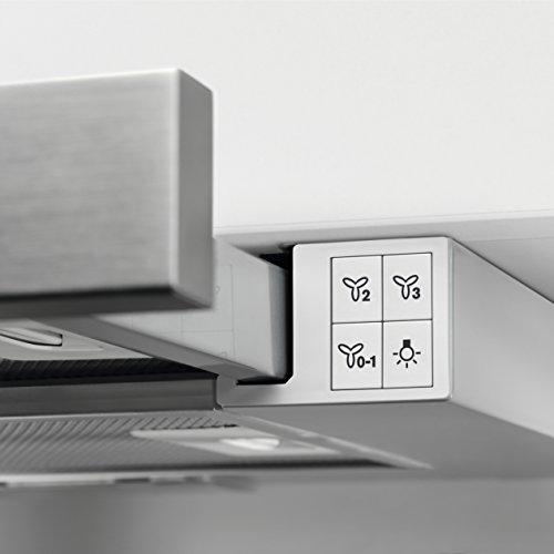 AEG DPB2621S Flachschirm-Dunstabzugshaube / Abluft oder Umluft / 60cm / Silberfarben / max. 120 m³/h / min. 68 – max. 72 dB(A) / D / Kurzhubtasten - 4