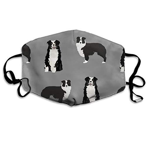 Aussie Hair Gel (Australischer Schäferhund - Schwarz und Weiß - Hund/Hund/Australischer Schäferhund/Aussie Anti-Staub-Maske gegen Verschmutzungen waschbar wiederverwendbare Mundmasken)