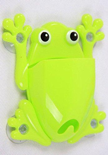 tfxwerws-cute-novelty-frog-spazzolino-attrezzi-di-trucco-organizza-del-gancio-di-colla-stick-verde