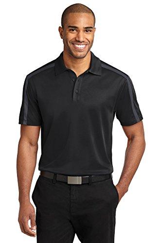 Port Authority® Silk TouchTM Performance Colorblock Stripe Polo. K547 Black/ - Stripe Silk Shirt